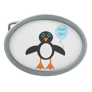 Hebilla del cinturón azul linda de Pemguin del beb Hebilla De Cinturon Oval