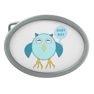 Hebilla del cinturón azul linda del búho del bebé hebilla de cinturón