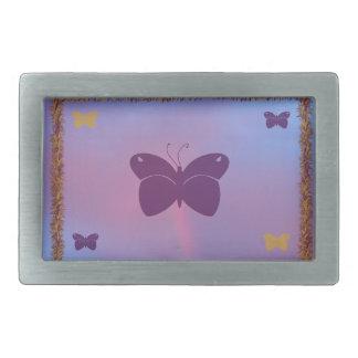 Hebilla del cinturón bonita de la mariposa hebilla de cinturón rectangular