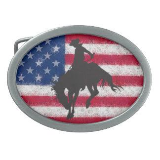 Hebilla del cinturón Bucking del caballo de la ban Hebilla Cinturon