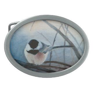 Hebilla del cinturón capsulada negro del Chickadee Hebilla Cinturon Oval