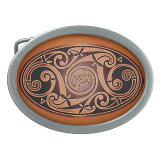 Hebilla del cinturón céltica del óvalo del diseño  hebilla cinturon oval