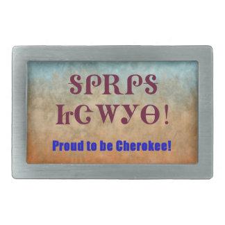 Hebilla del cinturón cherokee orgullosa hebillas cinturon rectangulares