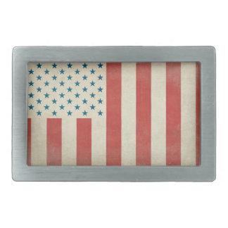 Hebilla del cinturón civil de la bandera de la paz hebilla de cinturon rectangular