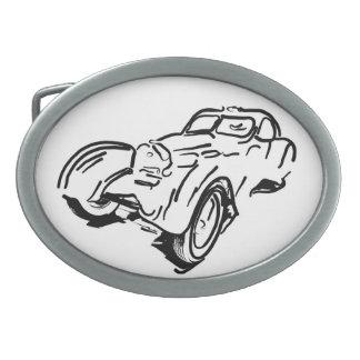 Hebilla del cinturón clásica del óvalo del coche hebillas de cinturón ovales