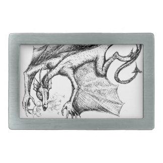 Hebilla del cinturón coa alas del dragón hebilla cinturon rectangular