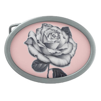 Hebilla del cinturón color de rosa hebilla de cinturón oval