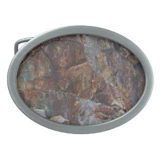Hebilla del cinturón color de rosa rocosa hebillas de cinturon ovales