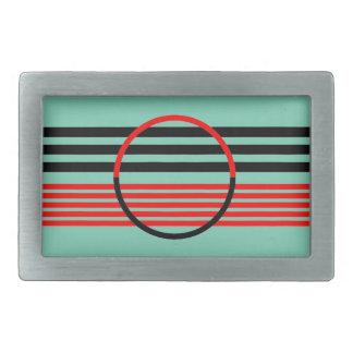 Hebilla del cinturón con diseño del art déco de la hebilla cinturon rectangular