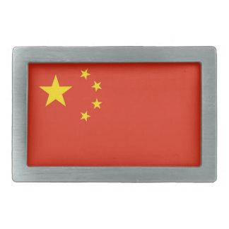 Hebilla del cinturón con la bandera de China Hebilla Cinturon Rectangular