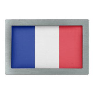 Hebilla del cinturón con la bandera de Francia Hebillas Cinturón Rectangulares
