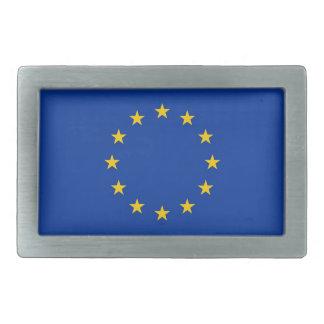 Hebilla del cinturón con la bandera de la unión eu hebilla cinturón rectangular
