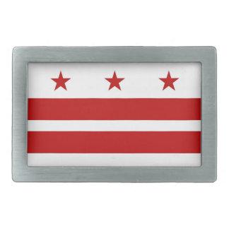 Hebilla del cinturón con la bandera del Washington Hebilla De Cinturon Rectangular