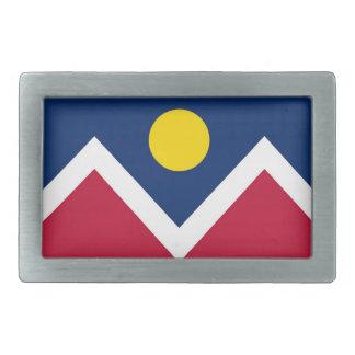 Hebilla del cinturón con la bandera estado de Denv Hebilla De Cinturon