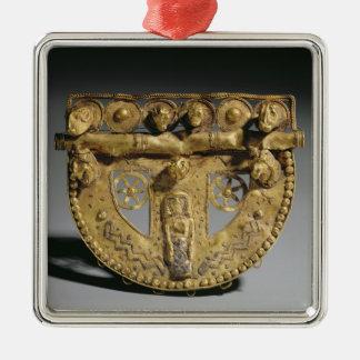Hebilla del cinturón con la decoración granulada, adorno cuadrado plateado