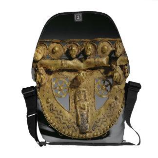 Hebilla del cinturón con la decoración granulada,  bolsas de mensajería