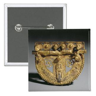 Hebilla del cinturón con la decoración granulada,  pin cuadrada 5 cm