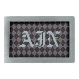 Hebilla del cinturón con monograma de Argyle Hebillas De Cinturon