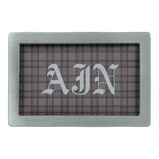 Hebilla del cinturón con monograma de la tela esco hebillas cinturon