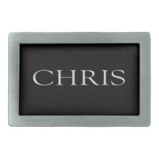 Hebilla del cinturón conocida de encargo de Chris Hebillas De Cinturon Rectangulares