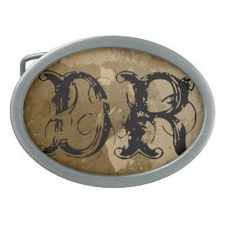 Hebilla del cinturón conocida del vintage con inic hebilla cinturón oval