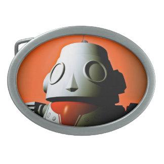 Hebilla del cinturón cosechada retra del robot 01 hebilla cinturón oval