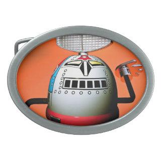 Hebilla del cinturón cosechada retra del robot 03 hebilla de cinturón oval