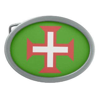 Hebilla del cinturón cruzada de Portugal Hebillas Cinturón Ovales