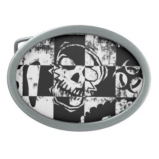 Hebilla del cinturón cruzada del cráneo hebilla cinturon
