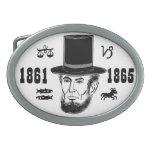 Hebilla del cinturón de Abraham Lincoln Hebillas De Cinturón Ovales