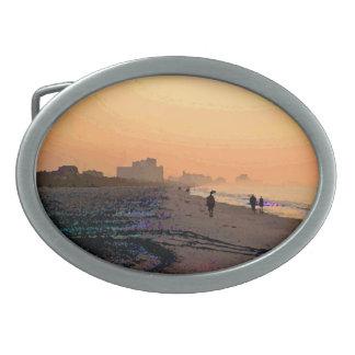 Hebilla del cinturón de Beachwalk de la mañana Hebilla De Cinturón