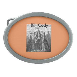 """Hebilla del cinturón de """"Bill Cody"""" Hebilla De Cinturón Oval"""