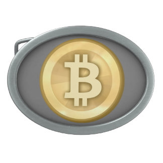 Hebilla del cinturón de Bitcoin Hebillas Cinturón Ovales
