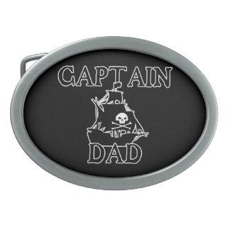Hebilla del cinturón de capitán Dad Hebilla De Cinturón Oval