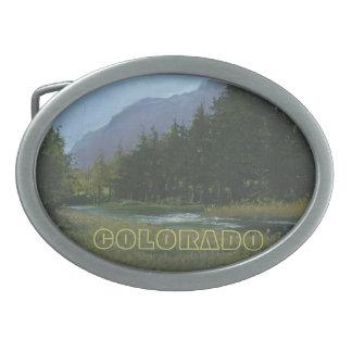 Hebilla del cinturón de Colorado Hebilla De Cinturon Oval