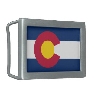 Hebilla del cinturón de Colorado Hebillas Cinturon Rectangulares