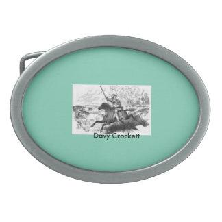 """Hebilla del cinturón de """"Davy Crockett"""" Hebillas De Cinturon Ovales"""