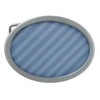 Hebilla del cinturón de dos rayas azules del tono hebilla de cinturon oval