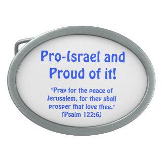 Hebilla del cinturón de Favorable-Israel Hebillas De Cinturon Ovales