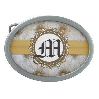 Hebilla del cinturón de Initia del monograma de la Hebilla Cinturon Oval