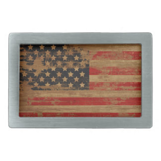 Hebilla del cinturón de la bandera americana del v hebilla cinturon rectangular