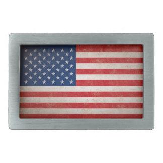 Hebilla del cinturón de la bandera americana del v hebillas cinturón rectangulares