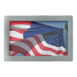 Hebilla del cinturón de la bandera americana hebillas de cinturon rectangulares