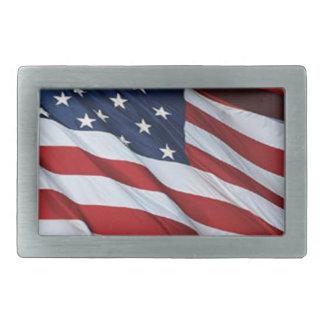 Hebilla del cinturón de la bandera americana hebillas de cinturón rectangulares