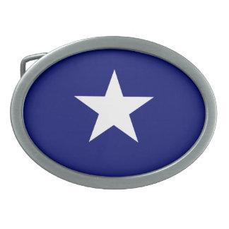 Hebilla del cinturón de la bandera azul de Bonnie Hebilla Cinturón Oval
