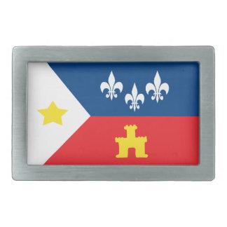 Hebilla del cinturón de la bandera de Cajun Acadia Hebillas De Cinturón Rectangulares