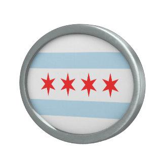 Hebilla del cinturón de la bandera de Chicago Hebillas Cinturon Ovales