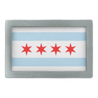 Hebilla del cinturón de la bandera de Chicago Hebillas Cinturón Rectangulares