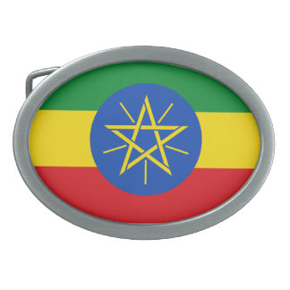 Hebilla del cinturón de la bandera de Etiopía Hebilla Cinturón Oval