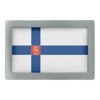 Hebilla del cinturón de la bandera de Finlandia Hebillas De Cinturón Rectangulares